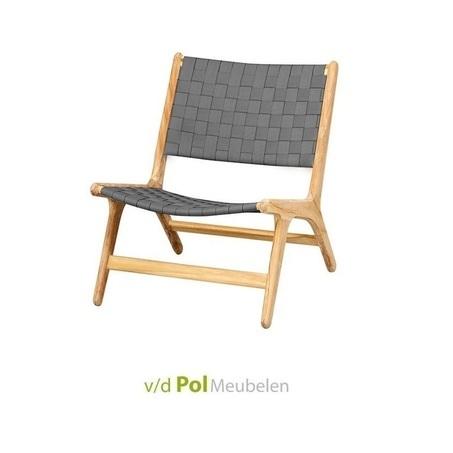 loungestoel-juul-lage-rug-grijs-applebee-teakhout-zonder-armleuning