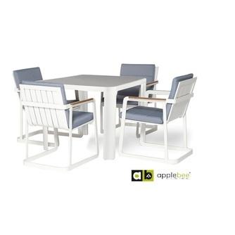 tuinset-bergamo-5-delig-applebee-aluminium-tuintafel-Bergamo-tuinstoel-stoel-stoelen-tuinstoelen-Carlos-teakhouten-armleuning-dik-zitkussen-blauw-wit-aluminium-fris-zomers