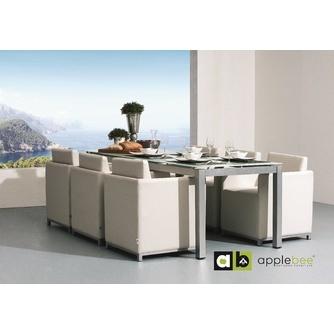 tuinset-club-5-delig-applebee-tuintafel-tuinstoelen-buitenleer-aluminium-matglas-glasplaat-modern