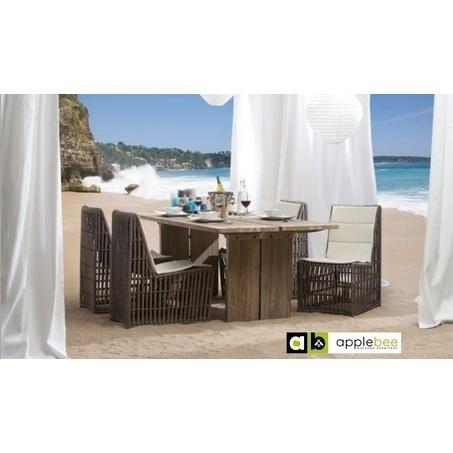 tuinset-joie-de-vivre-4-delig-applebee-wave-stoel-tuinstoel-wicker-vlechtwerk-kunststof-teakhout-houten-tafel-zitkussen-gevlochten-bilthoven-utrecht