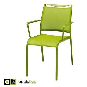 tuinstoel-hawaii-textileen-groen-appelgroen-appeltjesgroen-applebee-aluminium-textiel-zitting-dining-zomers-frisse-kleur-armleuning-bilthoven-utrecht