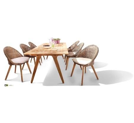 tuinset-fleur-bruin-7-delig-applebee-teakhout-tuintafel-juul-naturel-natuurlijke-afwerking-wicker-vlechtwerk-bruin-tuinstoel-Fleur-zitkussen-houten-poot-zes-stoelen-tafel-220-cm