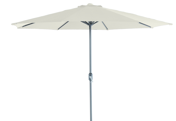 Parasol Ø 300 cm royal grey/ecru