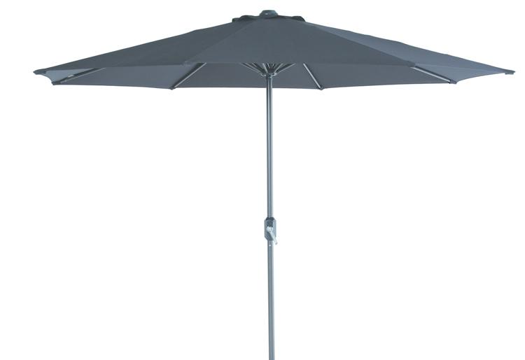 Parasol rond Ø 300 cm royal grey/zwart