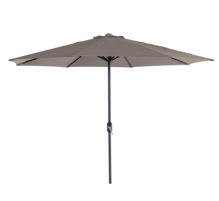 Parasol Ø 300 cm royal grey/taupe