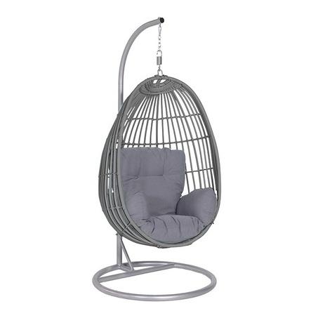 tuin-hangstoel-organic-grey-donkergrijs-garden impressions-tuinsets bv