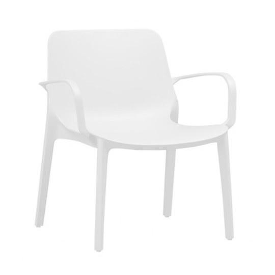 Stapelbare loungestoel Ginerva ivoor