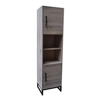boekenkast-evia-BM0190-tower-eiken-eikenhout-hout-vitrine-kast-smalle-whitewash-wit-wittig-metaal-zwart-onderstel-living-industrieel-stoer