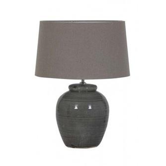 lampvoet-keramiek-donkergrijs-fijn-grijs-7507131-light-&-living-klassiek-verouderd-glad-rond-voet-tafellamp
