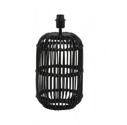 Lampenvoet rotan zwart Ø 25 cm