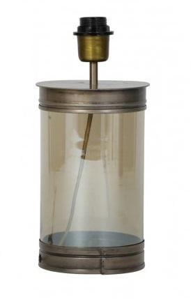 Lampenvoet glas met brons