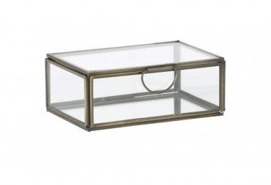 Deco box brons helder glas