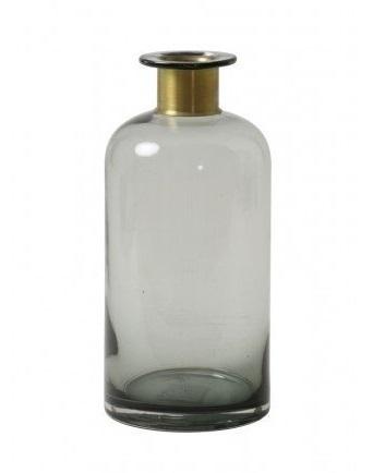 fles-11,5-cm-x-25-cm-glas-smoke-vaas-5909665-light-&-living-bronzen-half-brons-woonaccessoire-decoratie
