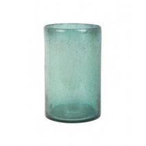 Vaas Ø 21 cm X 32 cm glas groen