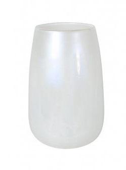 Vaas Ø 18 cm X 27,5 cm melk wit