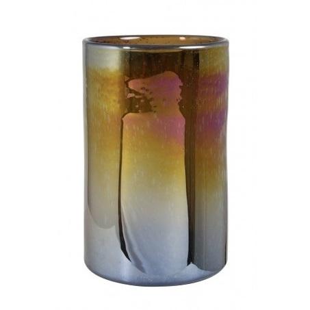 vaas-diameter-21-cm-x-32-cm-glas-bruin-parelmoer-rond-cilinder-light-&-living-glans-kaarsenhouder-windlicht-siervaas-6119383-bruinig