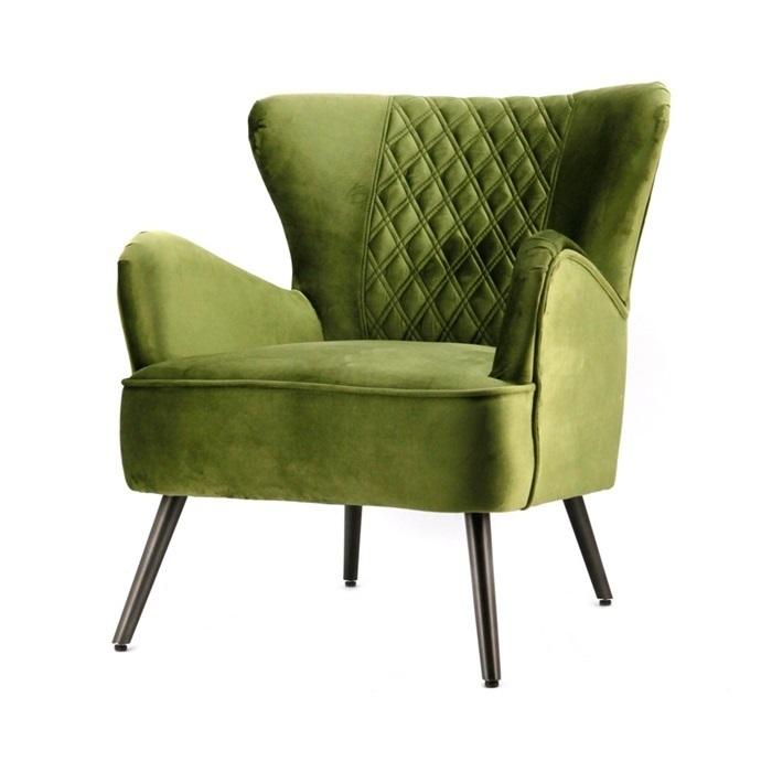 fauteuil-daisy-groen-genova-eleonora-gestikte-ruitjes-groen-geel-blauw-metalen-poot-velours