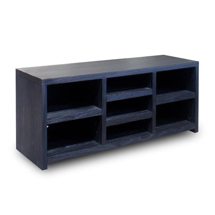 TV meubel open vakken zwart