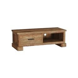 Teakhouten tv meubel Lorenzo past perfect in een industrieel interieur