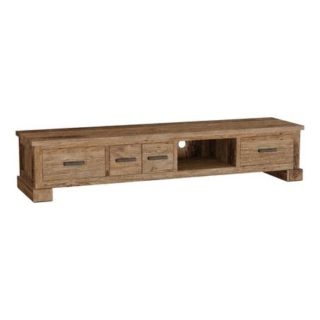 teak tv meubel 200 cm met lades.