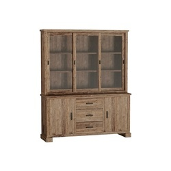 Teak buffetkast Lorenzo van gerecycled hout met afmeting 220 x 180 x 50/35cm.