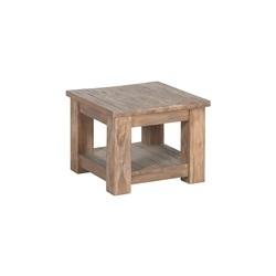 Teakhouten hoektafel Lorenzo in maat 60 x 60 x 45 cm met houten poten