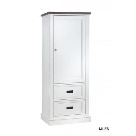 broodkast-lamulux-rechts-2-lades-gesloten-deurtje-deur-wit-mont-blanc-sepia-metalen-greepjes-landelijk-romantisch-kast-opbergkast