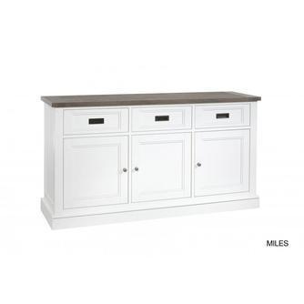 dressoir-lamulux-169-cm-miles-hout-structuur-drie-deur-lades-metalen-greepjes-wit-sepia-vergrijsd-romantisch-landelijk-kast