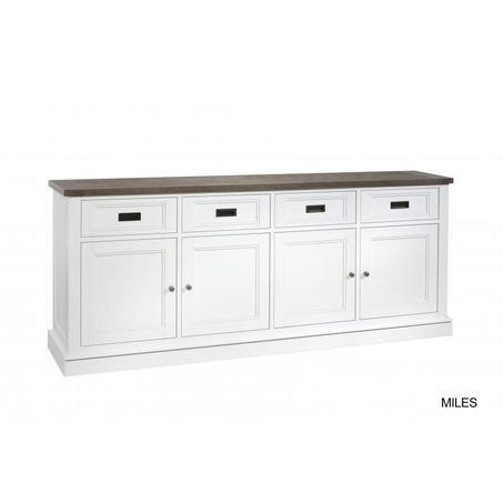 dressoir-lamulux-220-cm-miles-hout-structuur-vier-deur-lades-metalen-greepjes-wit-sepia-vergrijsd-romantisch-landelijk-kast