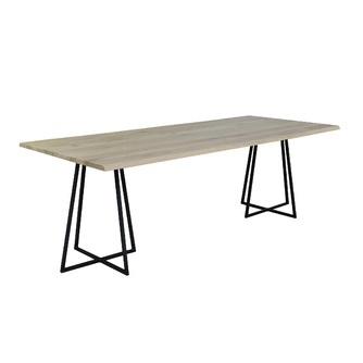eettafel-ferro-220-240-260-280-300-cm-kruispoot-metaal-zwart-eikenhout-rechthoekig-tafelblad-industrieel-vermeer-EET823-eetkamertafel-tafel-rustiek