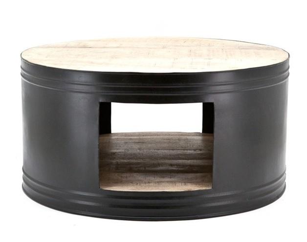 Salontafel Barrel zwart