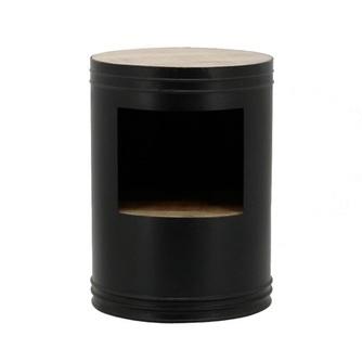 bijzettafel-barrel-zwart-1628-blik-ijzer-metaal-mango-hout-houten-tafel-blad-bijzettafel-koffietafel-industrieel-stoer-sidetable-opbergvak-byboo
