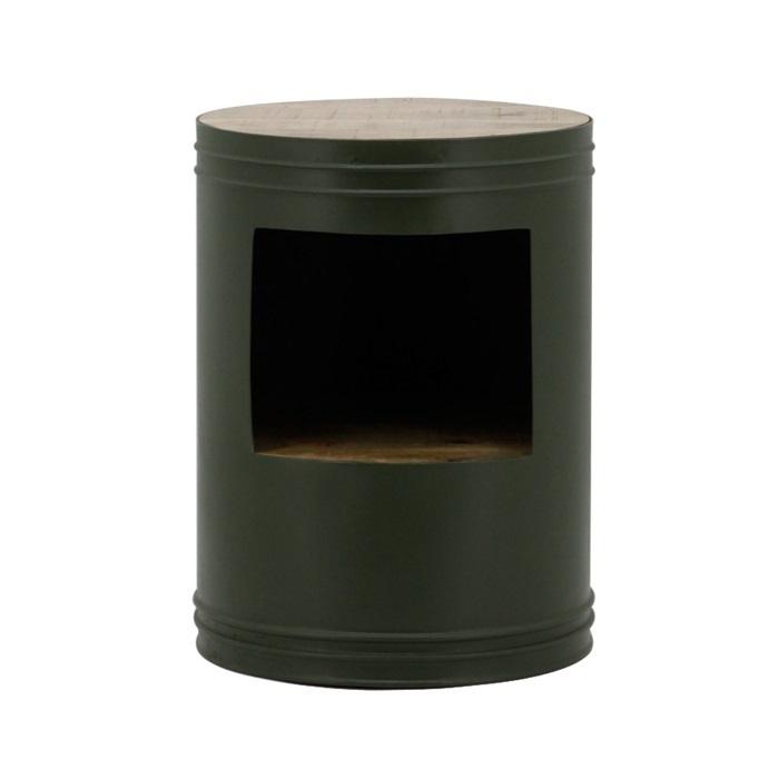 Bijzettafel Barrel groen