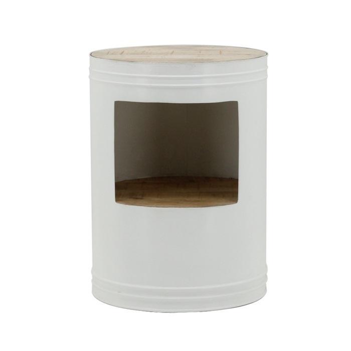 Bijzettafel Barrel wit