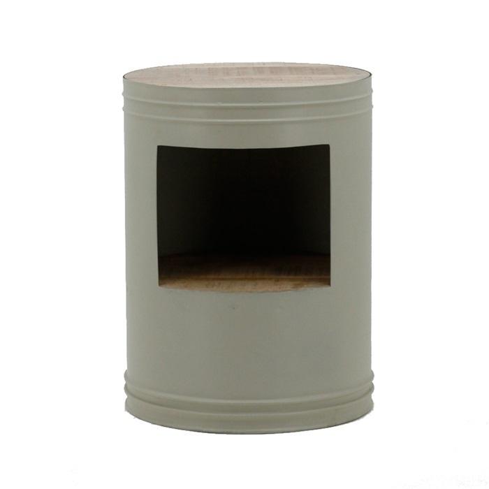 Bijzettafel Barrel grijs