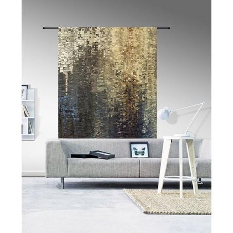 wandkleed-drops-urban-cotton-organisch-katoen-new-york-stijl-185-hoog-145-breed-muurkleed-muurdoek-wanddoek-wanddecoratie-doek-kleed-aan-de-muur-blauw-beige-zwart-goud-bruin-grijs-geometrische-patronen-urban-luxe