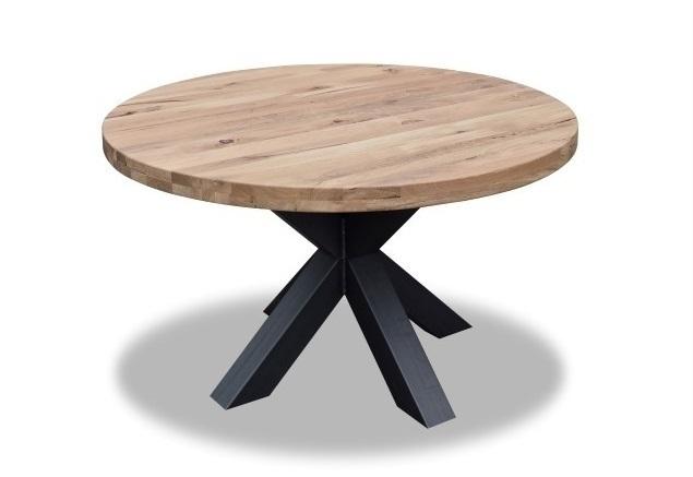 Ronde tafel kruispoot eiken Ø 130 cm kopen?