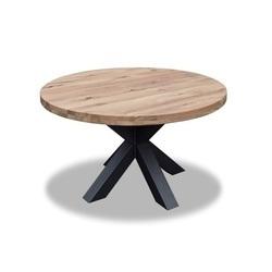 ronde-houten-tafel-kruispoot-metaal-industrieel-stoer-130-688-cm