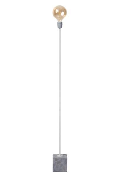 Vloerlamp Concrete Straight wit/grijs