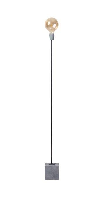 Vloerlamp Concrete Straight zwart/grijs