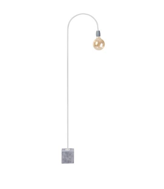 Vloerlamp Concrete Bow wit