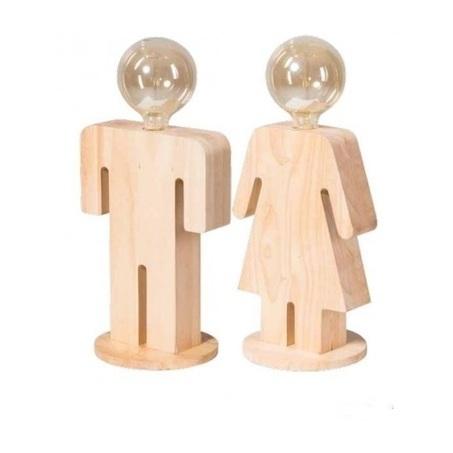 set-houtman-houtvrouw-adam-eva-eve-hout-eikenhout-lamp-tafellampen-manfiguur-vrouwfiguur-nachtkastje-dressoir-bureau-poppetjes