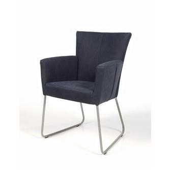 eetstoel-calivo-sledepoot-eetkamerstoel-stoel-armleuning-leder-stof-leer-houten-poot-RVS-onderstel-verticaal-stiksel-industrieel-modern-strakke-afwerking-recor