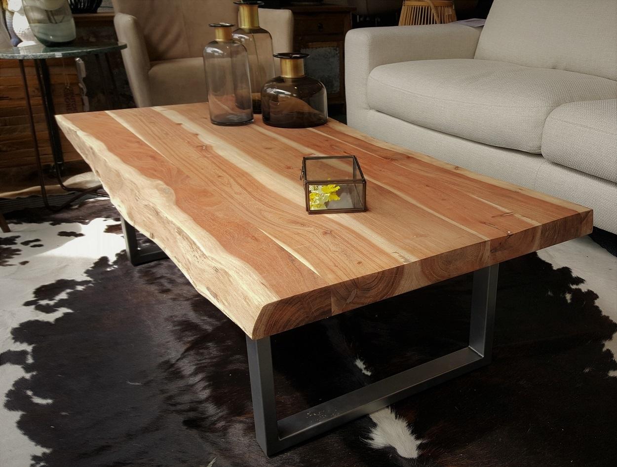 Salon Tafel Hout : Urbansofa salontafel edge boomstamblad kopen