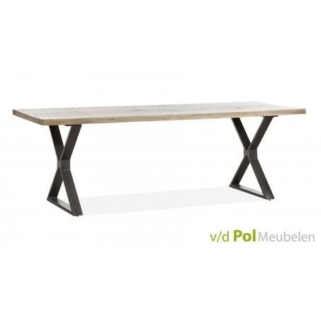 eettafel-mastercraft-kruispoot-xpoot-metalen-ijzeren-onderstel-oud-mangohouten-blad-gerecycled-naturel-robuust-220x90-cm-industrieel-stoer-mfdesign-tafel-eetkamertafel