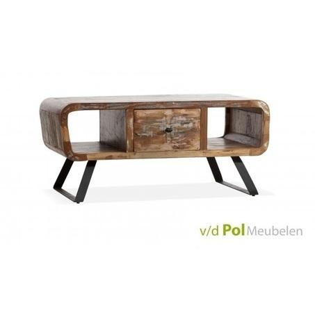 salontafel-mastercraft-120-x-60-cm-tafel-bijzettafel-zwart-metalen-onderstel-poot-ijzer-mangohout-houten-lade-klapdeur-open-vak-vintage-industrieel-stoer
