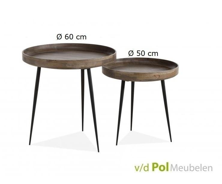 Mf design bijzettafel mastercraft rond 50 cm kopen for Salontafel rond design