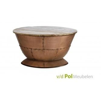 salontafel-mastercraft-rond-o72-cm-bijzettafel-tafel-tafeltje-ronde-koper-kleur-mangohout-tafelblad-knoppen-industrieel-stoer-woonkamer-huiskamer