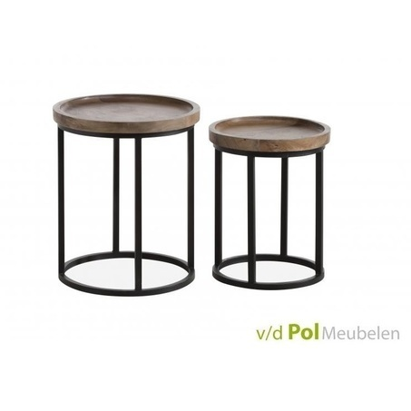 set-ronde-bijzettafels-mastercraft-salontafels-woonkamer-woonhoek-zithoek-huiskamer-industrieel-stoer-metalen-onderstel-ronde-tafeltjes-mangohout