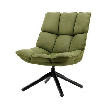 fauteuil-daan-groen-touareg-stof-vakken-dikke-rugleuning-draaibaar-draaibare-fauteuil-eleonora-kruispoot-afneembare-hoes